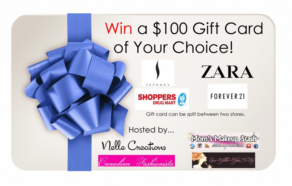 Win $100 Gift Card to Sephora, Forever 21, Zara or Shoppers Drug Mart- June 1st- 30th, 2013