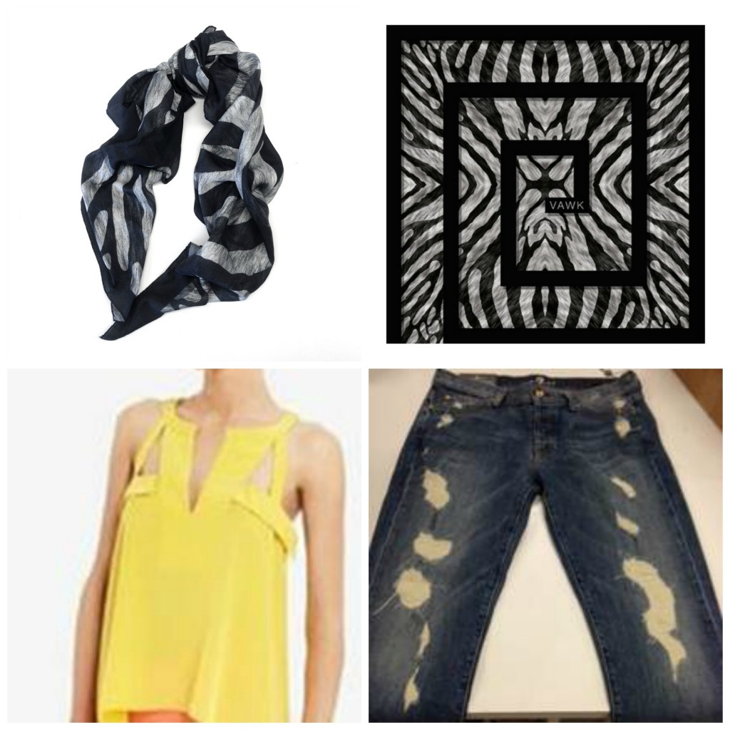 VAWK for eBay Scarf BCBG Top And Sevens Boyfriend Jeans Giveaway