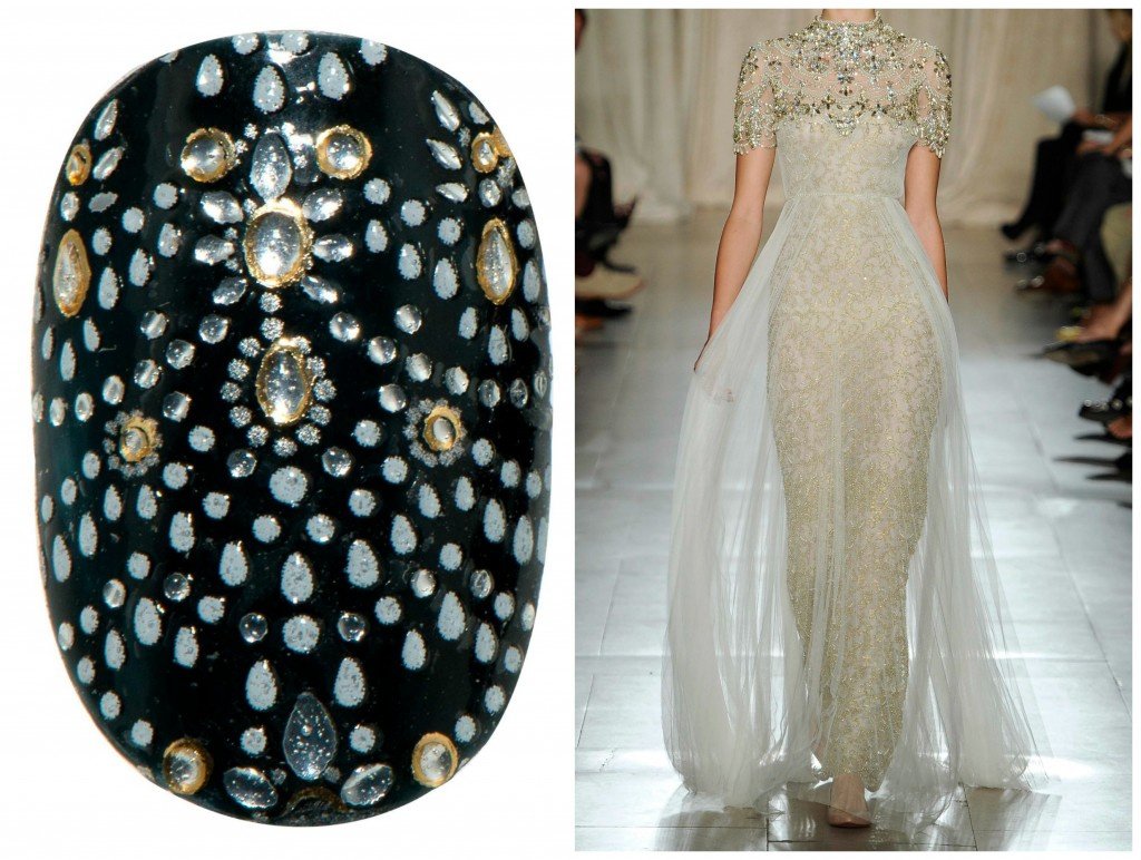 Revlon by Marchesa Nail Art 3D Jewel Appliqués in 'Beaded Couture'