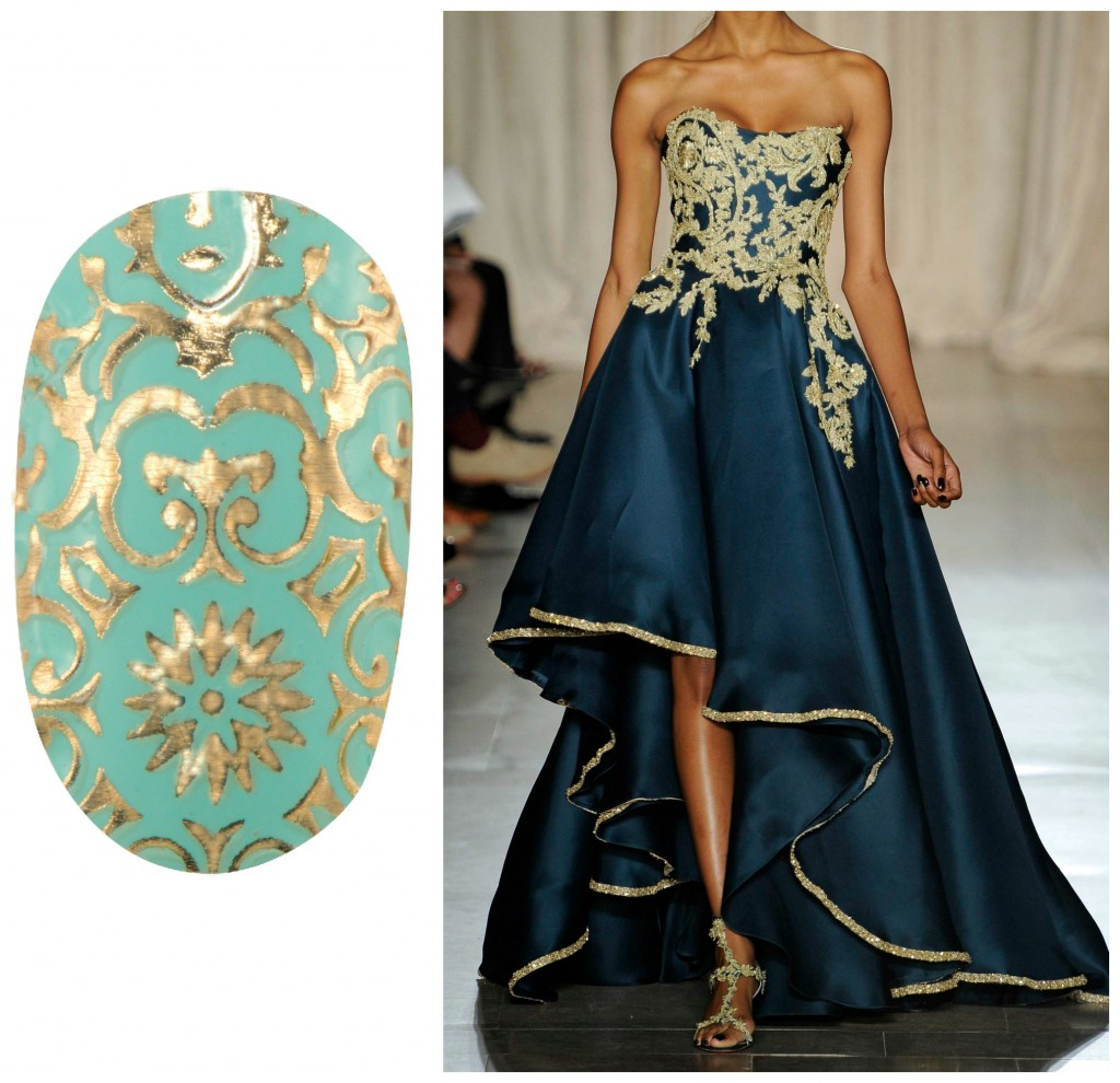 Revlon by Marchesa Nail Art 3D Jewel Appliqués in '24K Brocade'