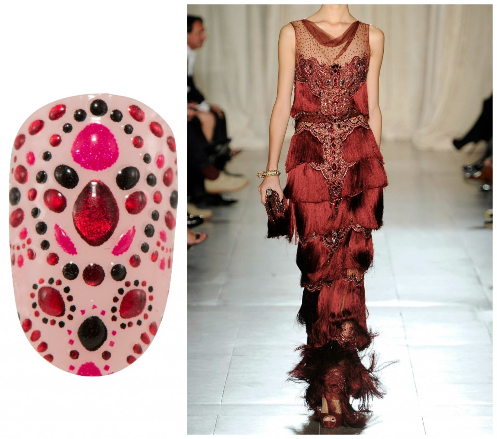 Revlon by Marchesa Nail Art 3D Jewel Appliqués in 'Evening Garnet'