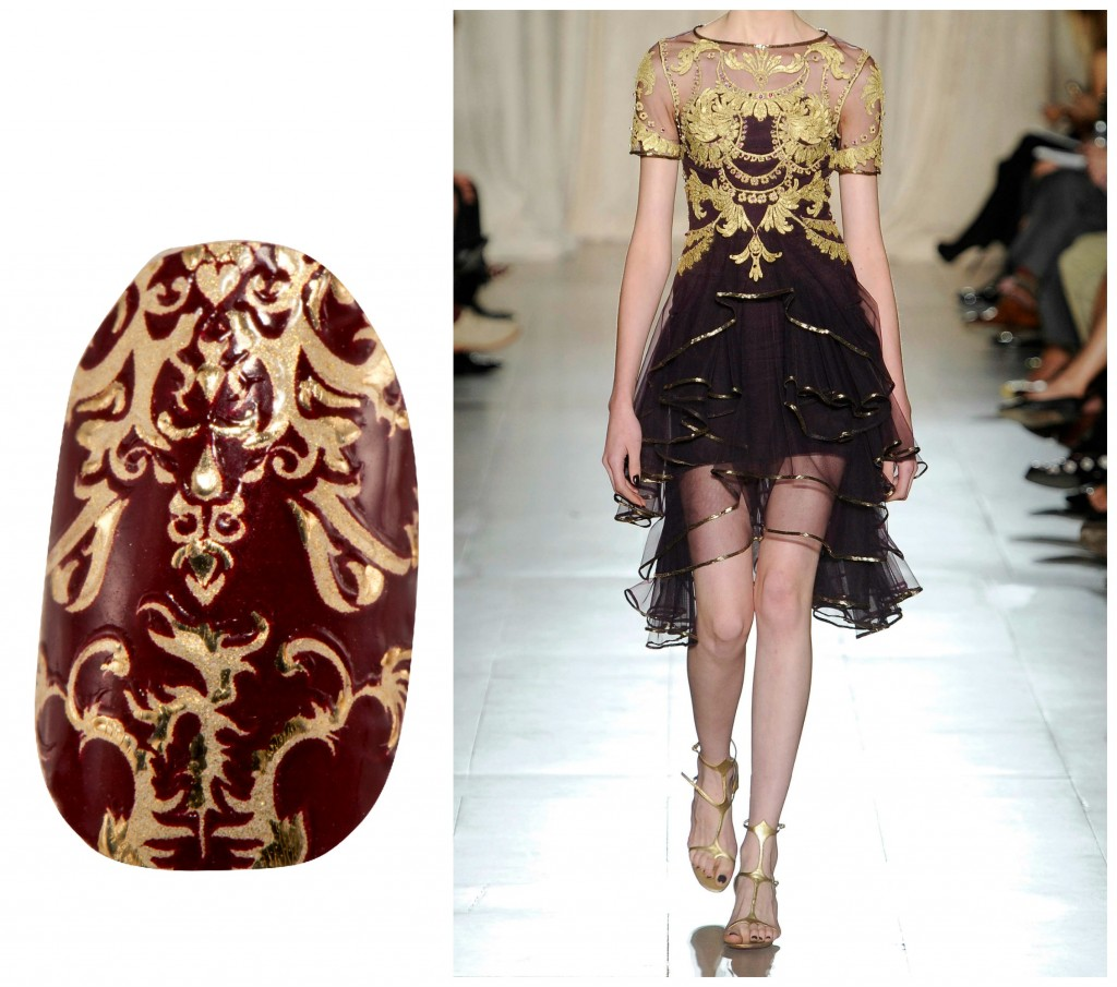 Revlon by Marchesa Nail Art 3D Jewel Appliqués in 'Royal Burgundy'
