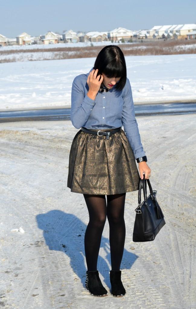 November 29th, 2013- Brocade Skater Skirt
