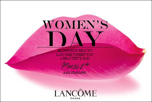 Lancôme Celebrates International Women's Day with Roses And Dinner