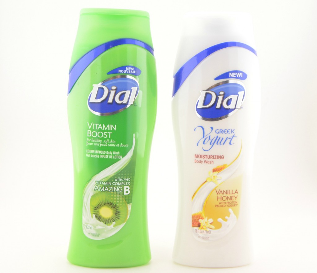 Dial Greek Yogurt Body Wash and Dial Vitamin Boost Body Wash