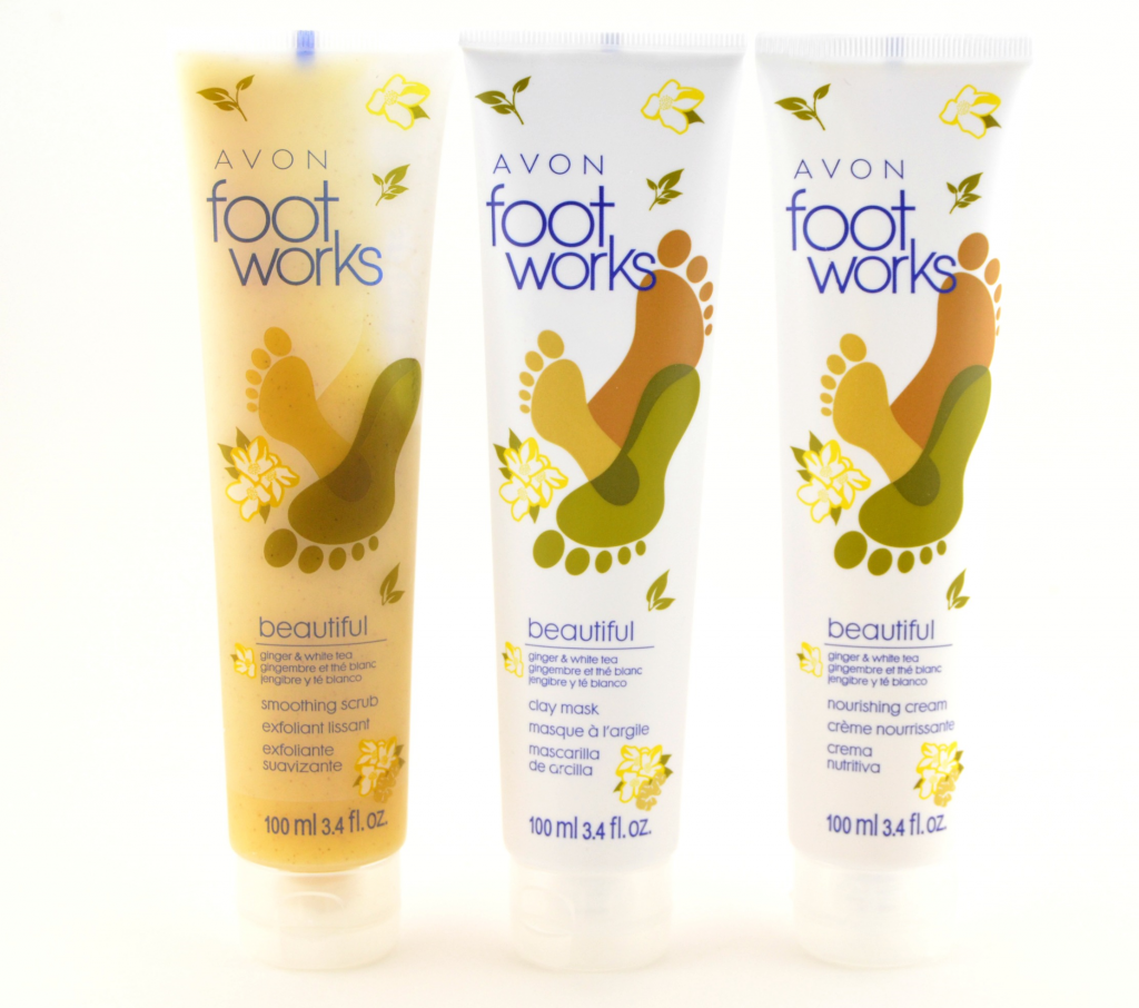 Avon Footworks Beautiful Ginger and White Tea Collection