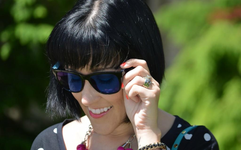 Firmoo sunglasses, sunnies, sunglasses, short hair, bob cut, black hair