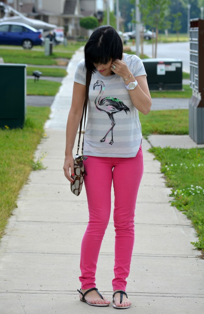 Canadian Fashion Blogger, Fashionista, stilettos, denim, jeans, graphic tee