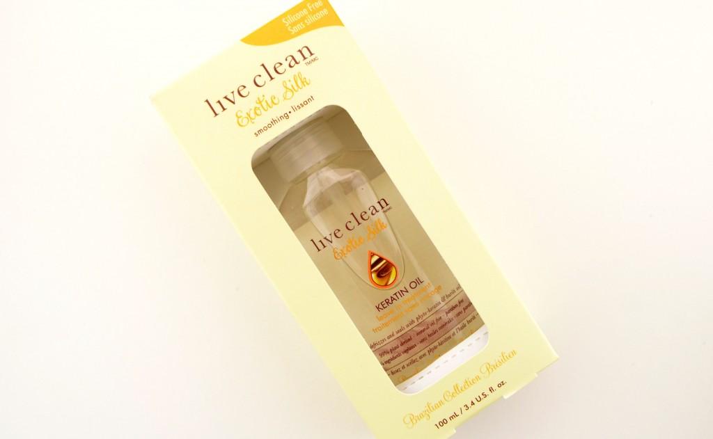 Live Clean Exotic Silk Keratin Oil Leave-in Treatment, Khyto-Keratin, Buriti Oil, Keratine
