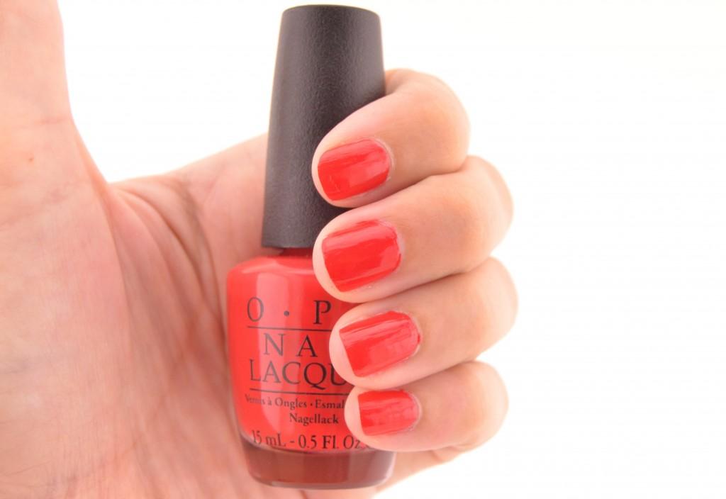 OPI Coca-Cola Red, OPI, Beauty Blogger, Nail Swatch, Nail Polish, Red polish