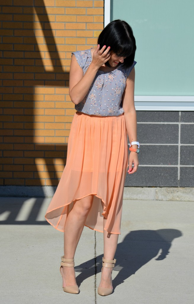 Blouse, Lauren Conrad, Kohl's, Skirt, Forever 21, Shoes, Pumps, Le Chateau, Bracelet, BCBG