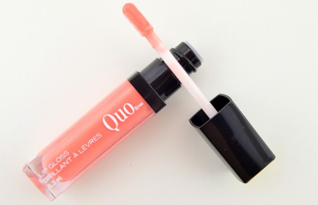 Quo Brilliant Lip Gloss, Quo lipstick, lip gloss, peach gloss, non sticky, shoppers