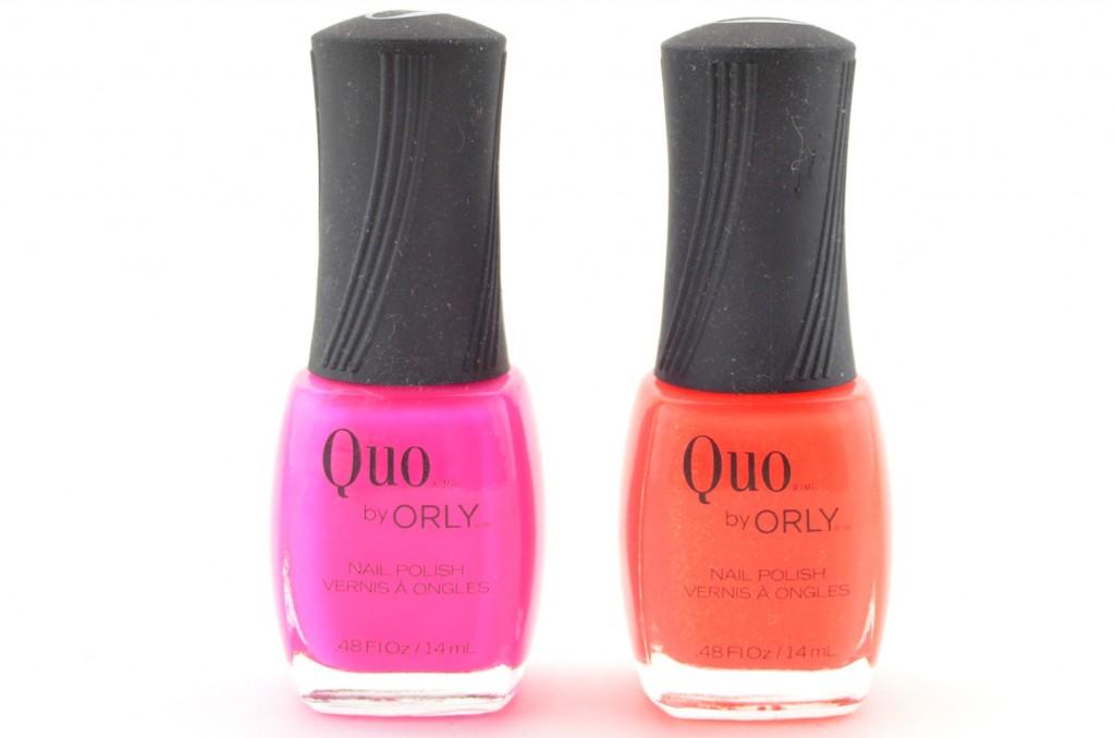 Quo by Orly, Quo Nail Polish, Orly, Nail Polish, Nail lacqor, Neon Pink, bright orange