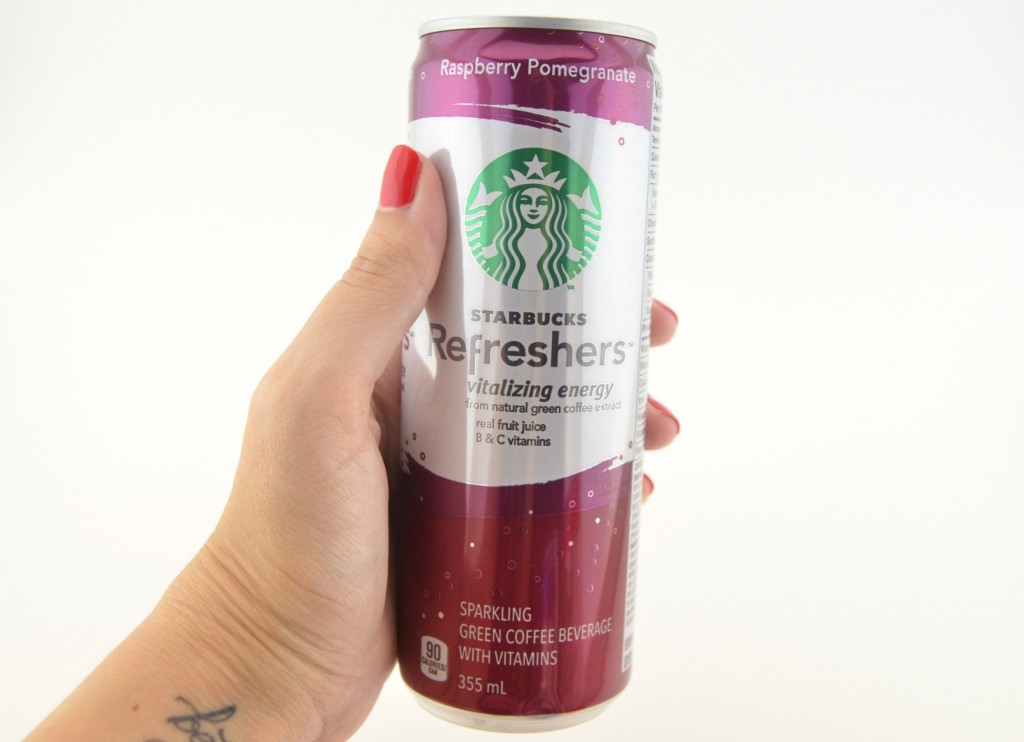 Ready-to-Drink Starbucks Refreshers in Raspberry Pomegranate