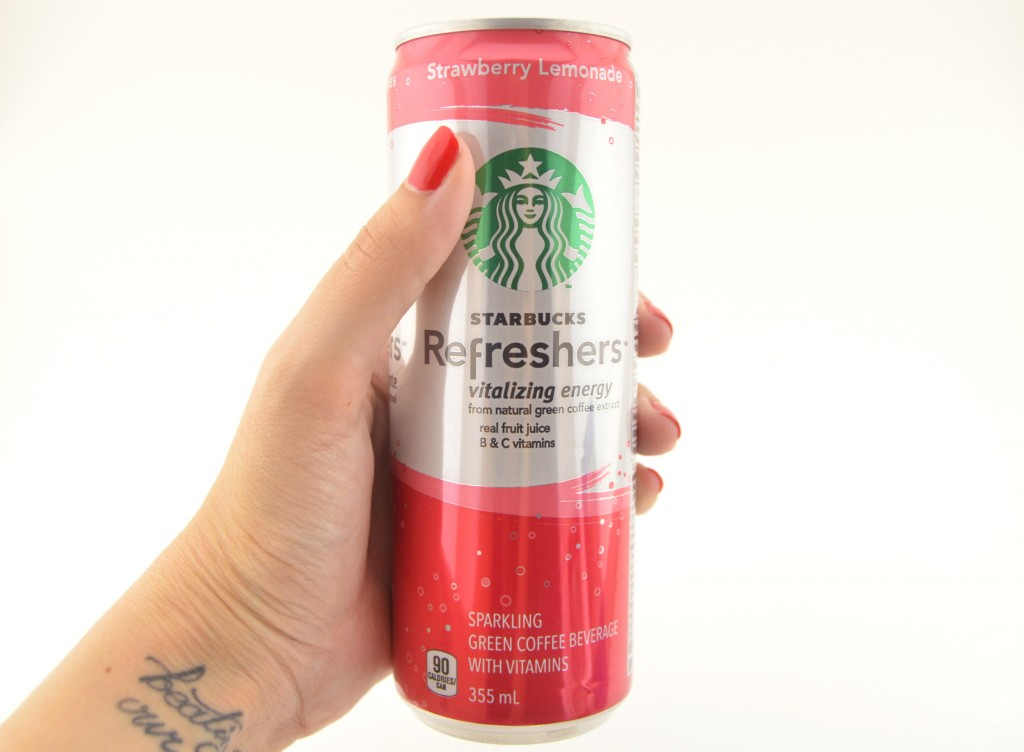 Ready-to-Drink Starbucks Refreshers in Strawberry Lemonade