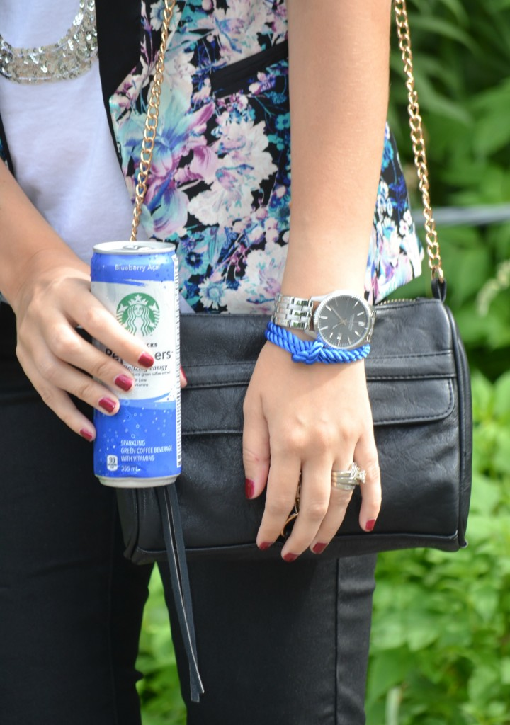 Smart Set, Black Purse, Rebecca Minkoff, See Song Designs,  Caravelle New York, Caravelle New York Watch, Silver Watch