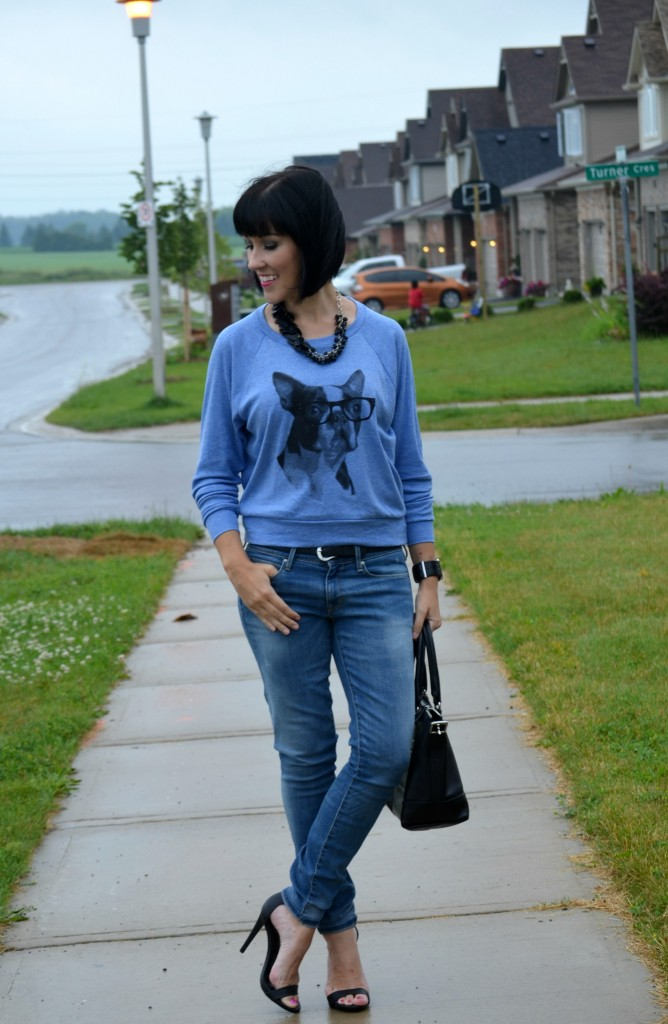 Boston Sweatshirt, Skip N Whistle, Gap Jeans, Target Sandals, Target, Strappy heels, Fenway Park, American Apparel, Sweater, What I Wore