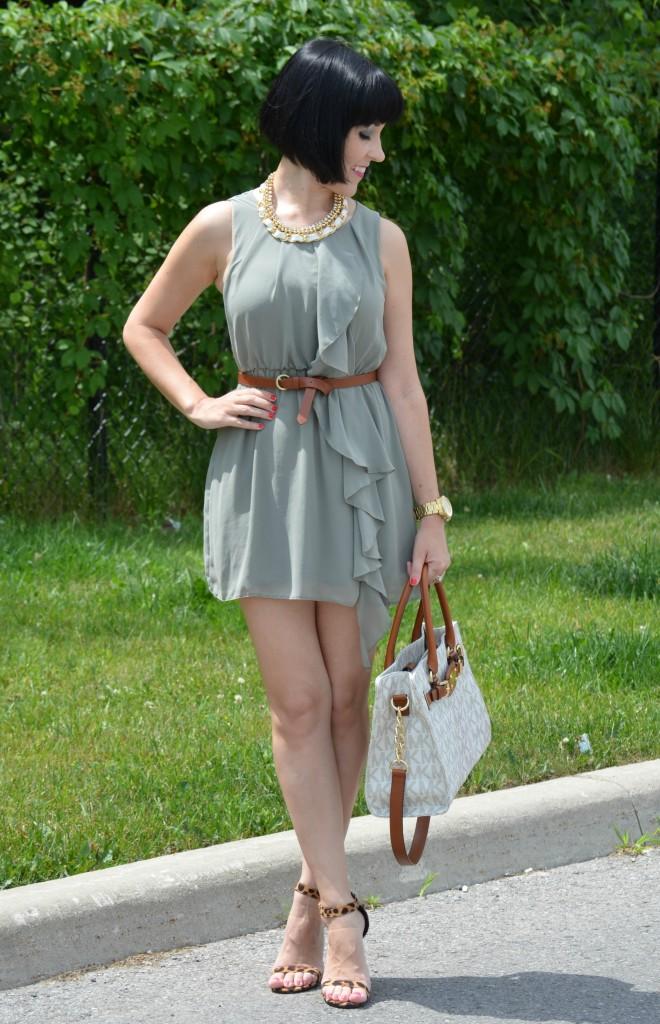 H&M Olive Green Dress