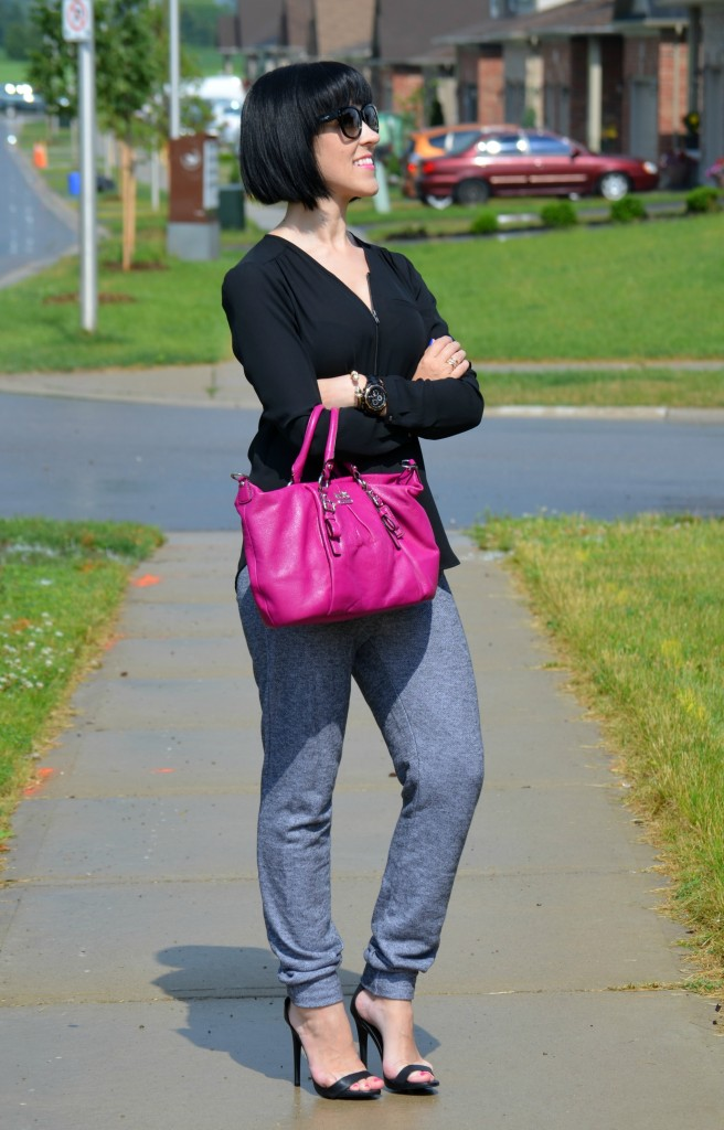 Jogging pants, smart set, coach sunglasses, Blogger, Fashion Crimes, Spring Fashion, Latest Fashion Trends, Fashion Tips, Toronto Blog