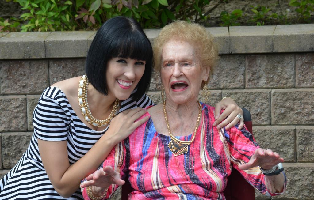 Grandma Love, 95th Birthday, Celebration, Old Age, Love of my life, grandparent, birthday, happy birthday, pink shirt, short hair