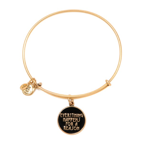 Alex and Ani, everything happens for a reason, bracelet, gold bangle, charms, charm bracelet, gold, hoops
