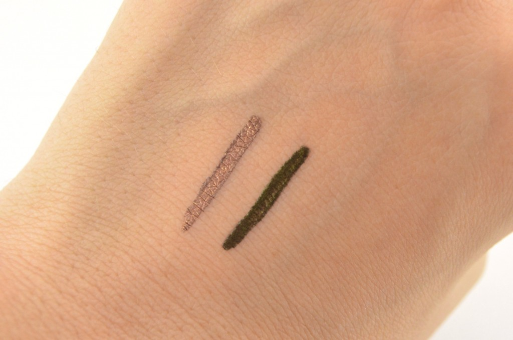 Review, Swatch, Swatches, Makeup Reviews, Cosmetics Swatches, Tester, Test, Blogger Review, Eyeliner, Metallic swatch