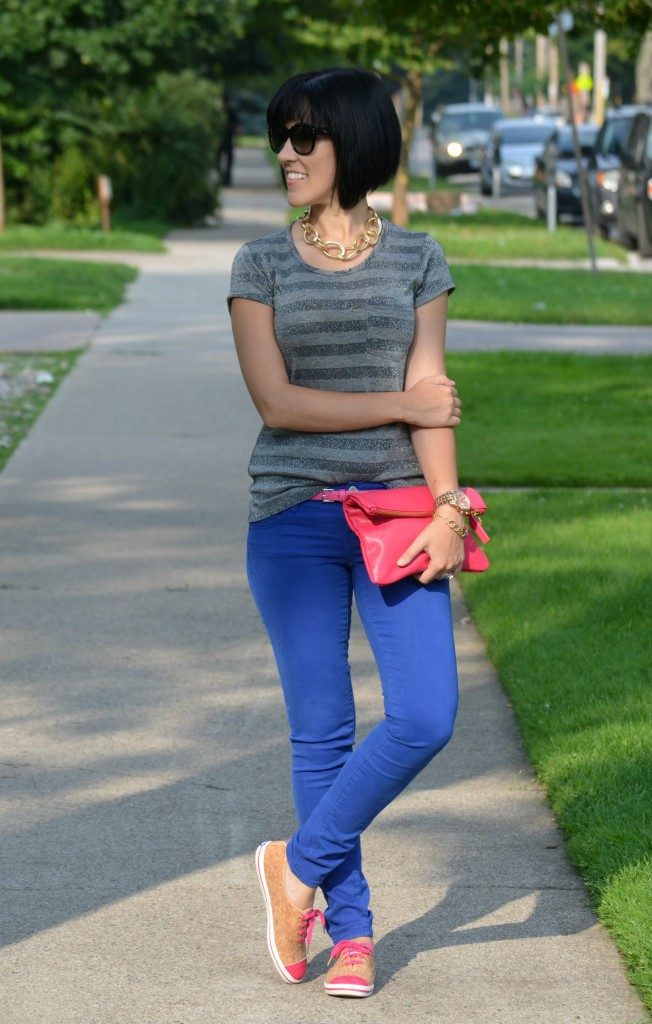 Kate Spade, Keds, Pink Sneakers, Town Shoes, coach sunglasses, sunglasses, gold necklace, statement necklace, black shades