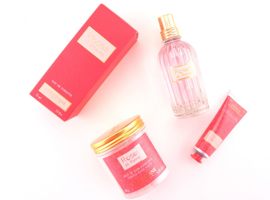 L'Occitane, Roses and queens, perfume, rose perfume, rose scent, pink bottle, roses