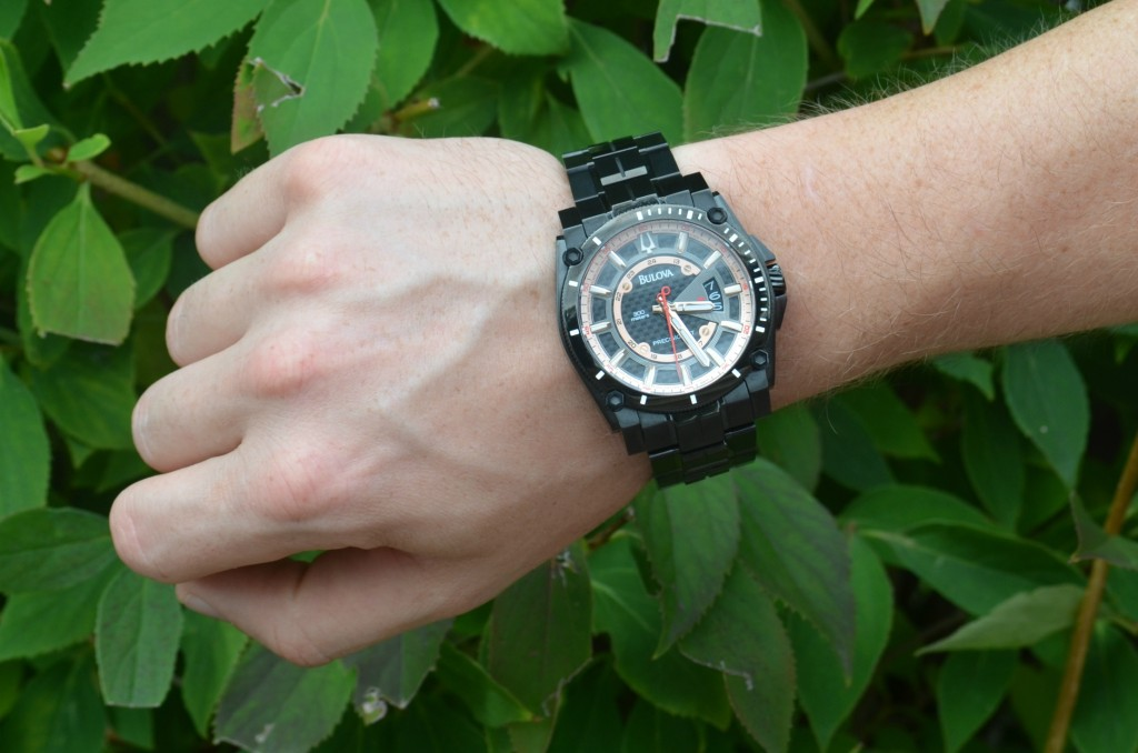 Black Watch, Bulova, Mens Watch, time, winners, all black, mens fashion, wrist party, arm party