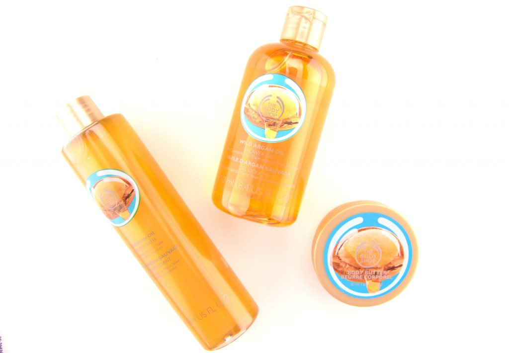 The Body Shop,  Wild Argan Oil, Body Shop Collection, argan oil, oil, body butter, bubble bath, shower gel