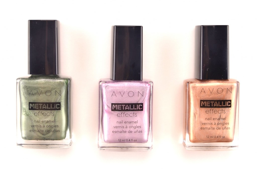 Avon Metallic Effects, Nail Enamel, Avon, Metallic, metallic finish, chrome finish, nail polish, jade polish, purple nail polish, copper, avon nail polish