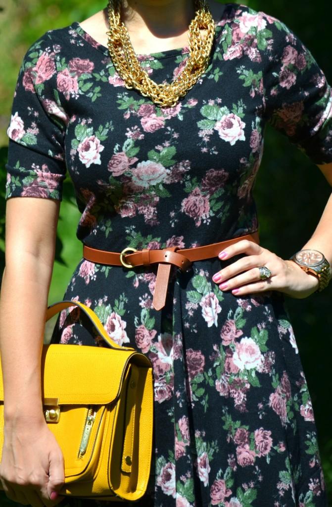 gold, floral, cowboy boots, country, brown boots, aldo boots, aldo, smart set floral dress, michael kors watch, rose gold watch