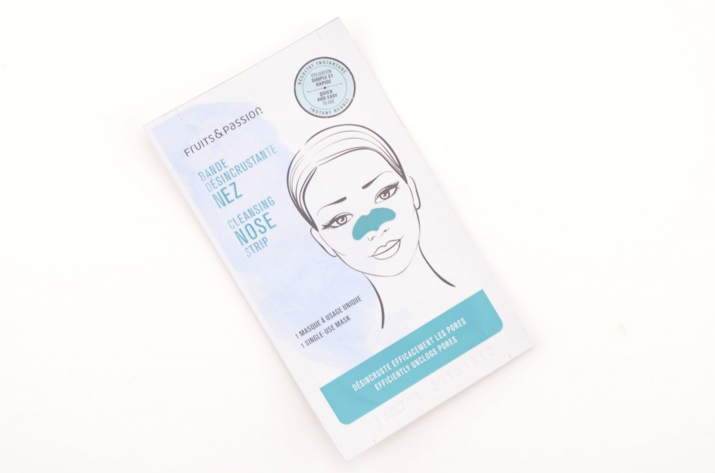 Fruits & Passion, Cleansing Nose Strip, nose strips, enlarged pores, pores, deep clean, breakouts, beauty blogger