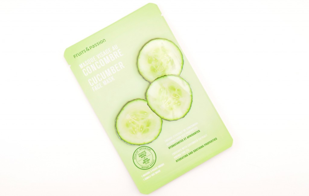 Fruits & Passion, Cucumber Face Mask, cucumber mask, facial masks, sheet mask, beauty blogs, beauty, moisturize the skin, canadian blogger