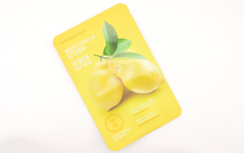 Fruits & Passion, Lemon Face Mask, facial mask, lemon maks, sheet masks, beauty bloggers, canadian bloggers, lemon treatment, lemon