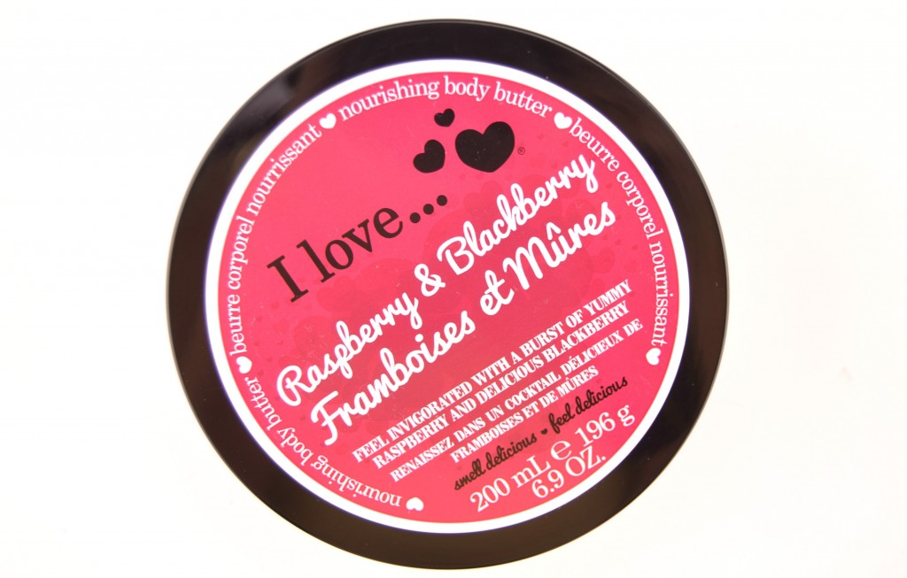 I Love, Raspberry & Blackberry, Nourishing Body Butter, Review, Swatch, Swatches, Makeup Reviews, Cosmetics Swatches, Tester, Test, Blogger Review