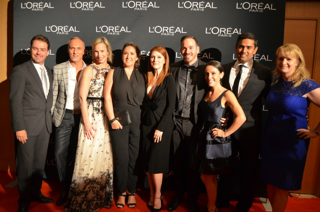 L'Oreal Paris, L'Oreal team, julianne moore, hair care, red carpet, TIFF, TIFF 2014