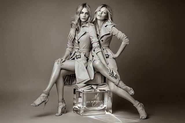 My Burberry perfume, Kate Moss, Cara Delevingne, sweet pea, bergamot, models, supermodel