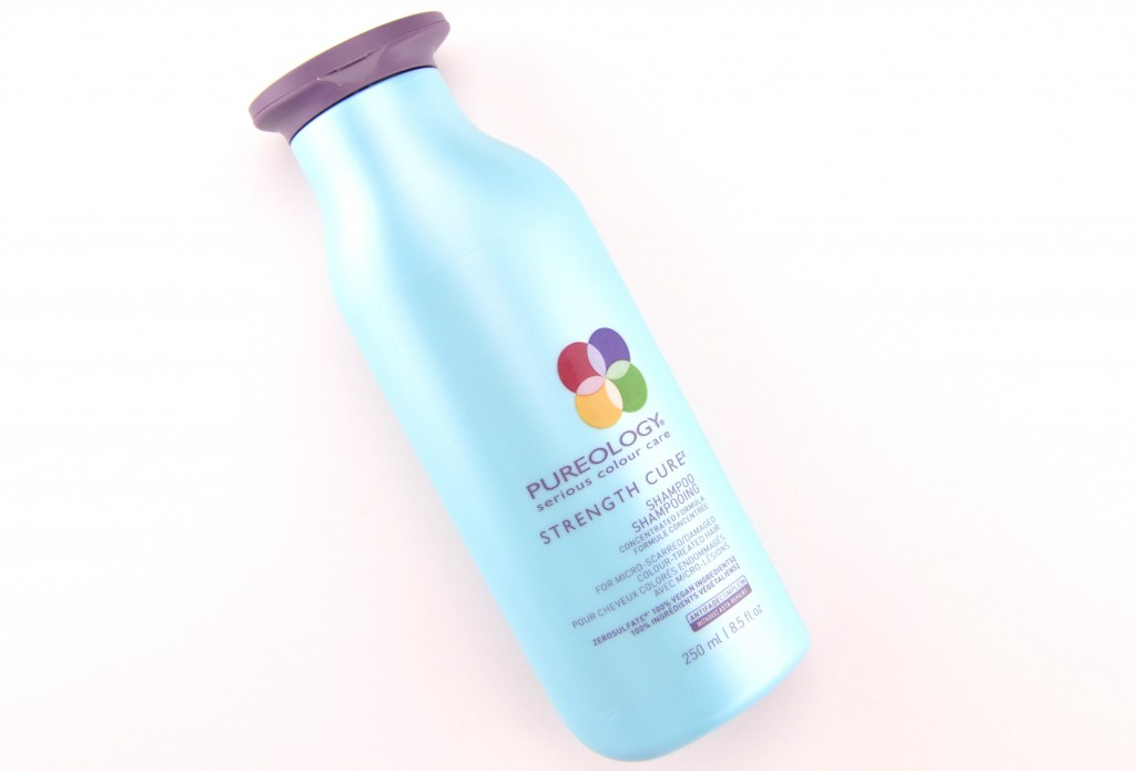 Pureology Strength Cure shampoo, Pureology Strength Cure Shampoo, sulfate free, remove dulling residue, fortifies the inside, soften, protecting colour radiance, shampoo, l'oreal shampoo