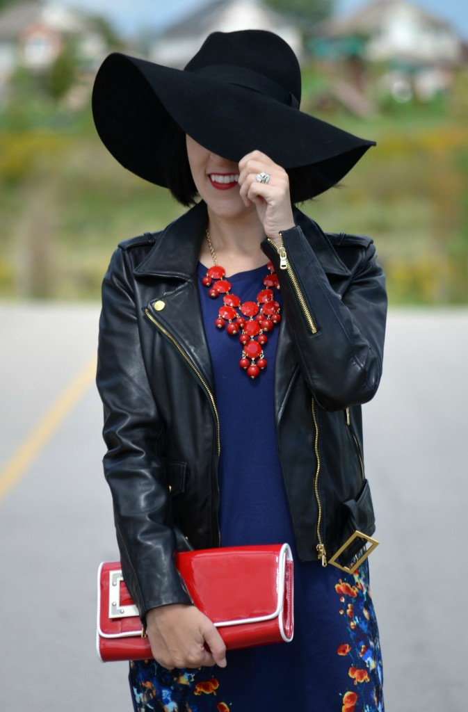 Sarah Stevenson, Target Dress, Target, Red Clutch, Floppy Felt Hat, floppy hat, aldo shoes, black hat, fashion blogger