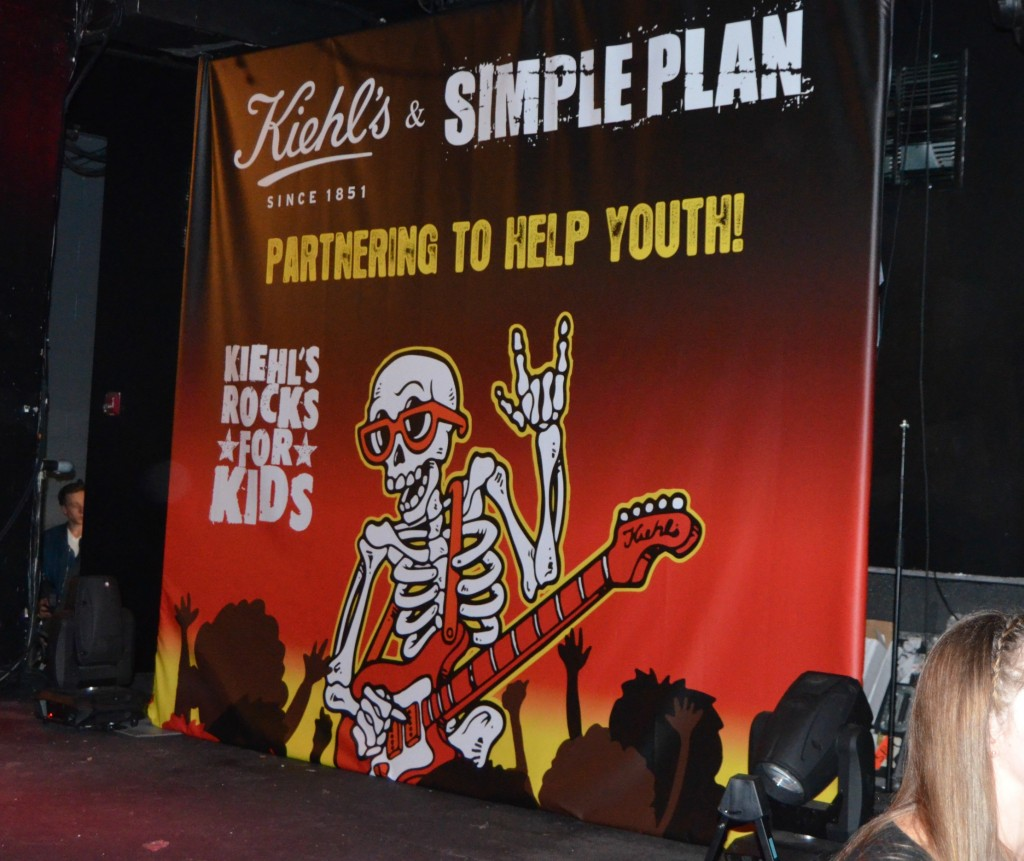 Simple Plan, Kiehl's And Simple Plan Concert , Kiehls rocks for kids, simple plan foundation