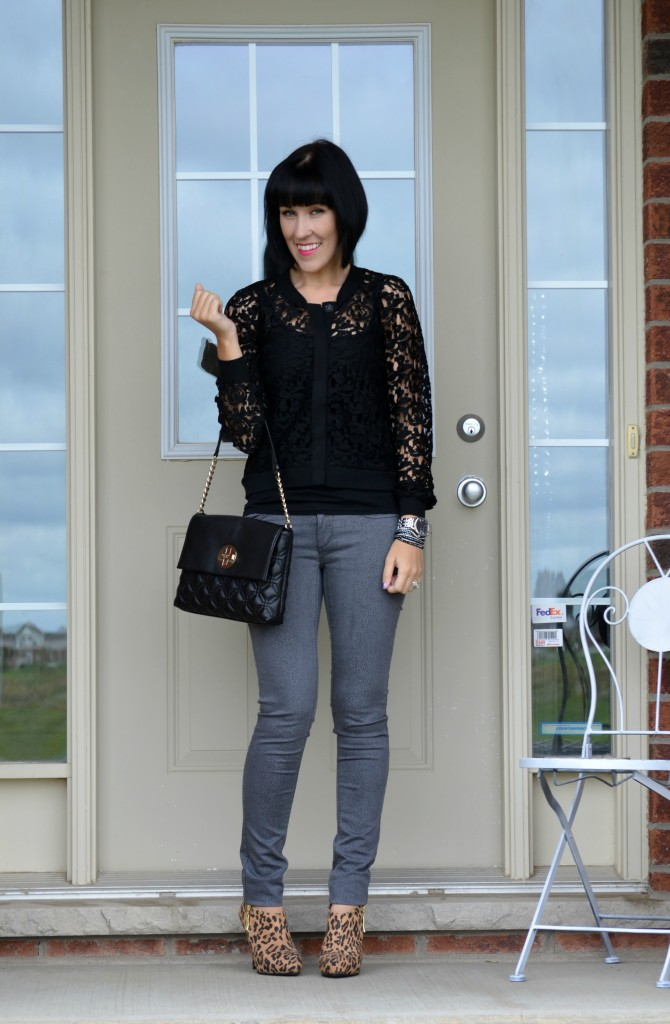 What I Wore, Tank Top, Smart Set, Sweater, H&M, Purse, Kate Spade, Watch, Caravelle New York, Skinny Jeans