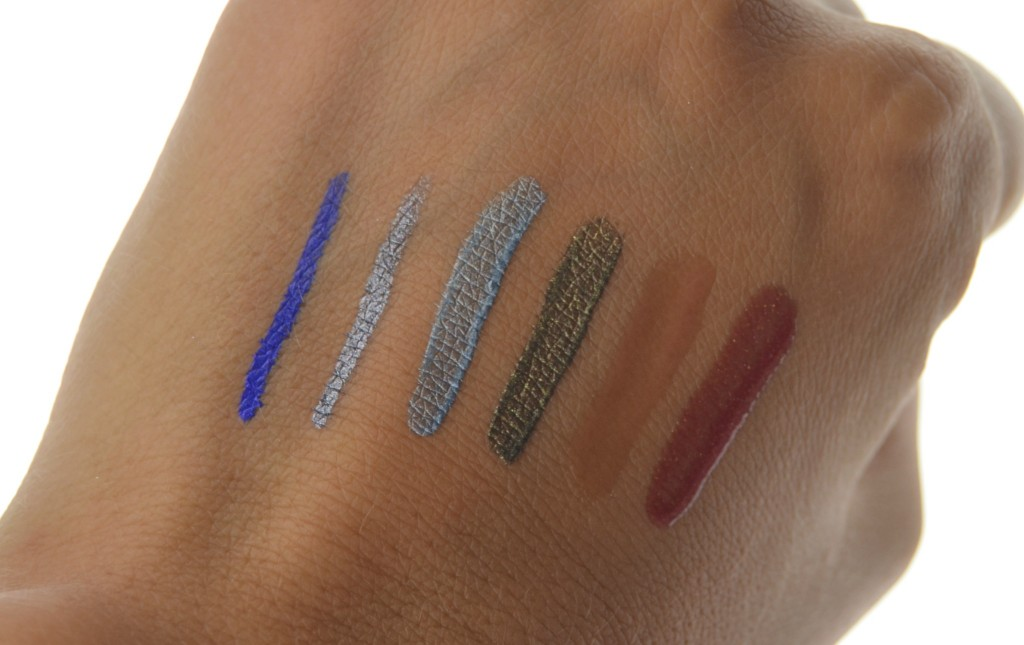 Mark Eyeshadows, Eyeliners and Lip Glosses swatch