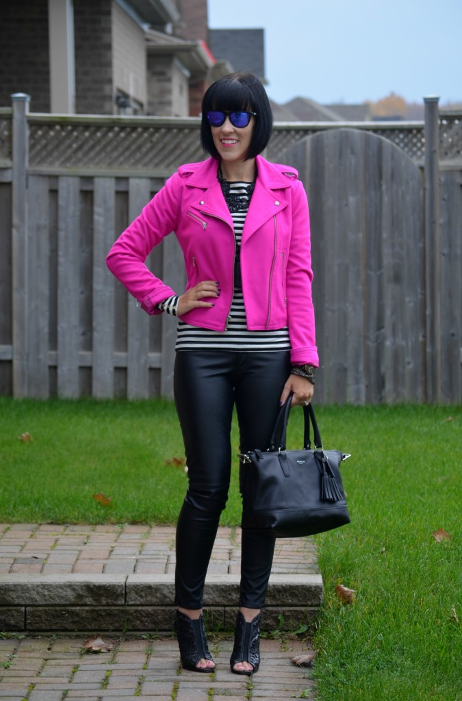 What I Wore, Tee, H&M, Jacket, The Gap, sunglasses, Oakley, purse, Coach