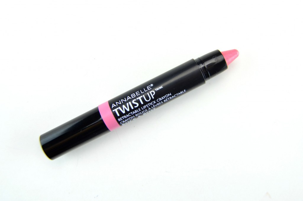 Annabelle Twist Up, Retractable Lipstick, lipstick Crayon, Metal lipstick, annabelle cosmetics, Annabelle Twist Up Retractable Lipstick Crayon in Rock & Roes, beauty bloggers, canadian blogs