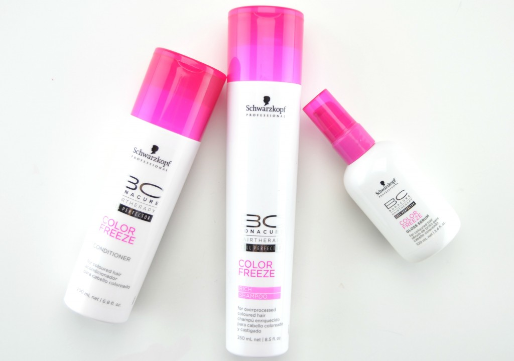 BC Hairtherapy Beauty Box review, BC Hairtherapy Color Freeze, Color Freeze Shampoo and Conditioner , BC Hairtherapy Color Freeze Gloss Serum, serum, coloured hair, short haircut, shampoo