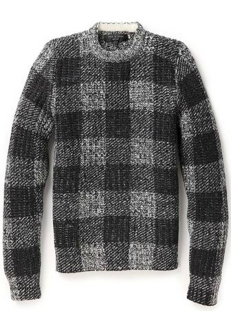 Rag & Bone  Theo Crew Sweater, Rag & Bone, Crew Sweater, black and grey sweater, male bloggers, canadian blogger