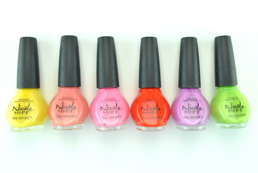 Nicole by OPI, Spring Summer 2015 Collection, Bee in the Moment , Who are You Calling a Shrimp?, In Sync with Pink , My Claim to Flame , Get a Mauve On! , Simply Sub-lime