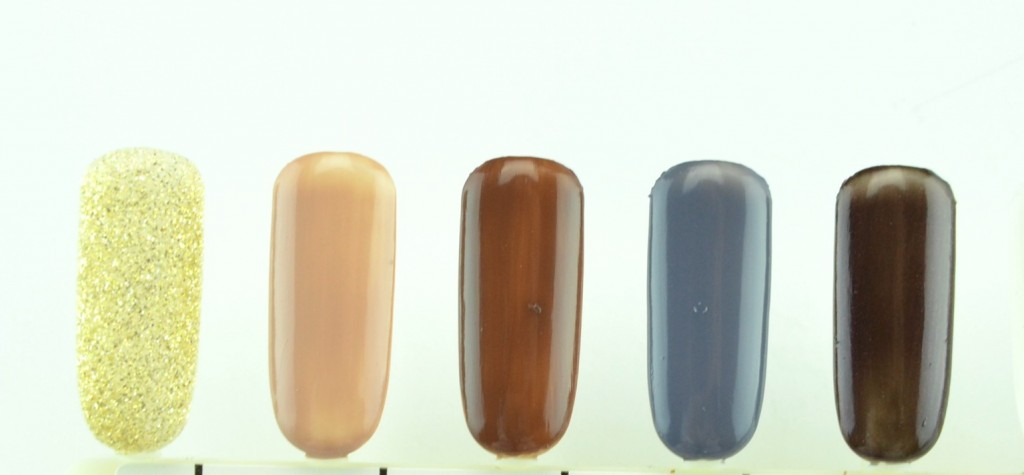 Nicole by OPI Spring Summer, Heart of Gold , Count to Tan, That's Just Plain Nuts, Keep Your Gray Job , Profoundly Purple