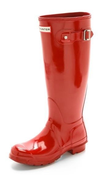Hunter Boots, red rain boots, rain boots, red boots, hunter, glossy boots